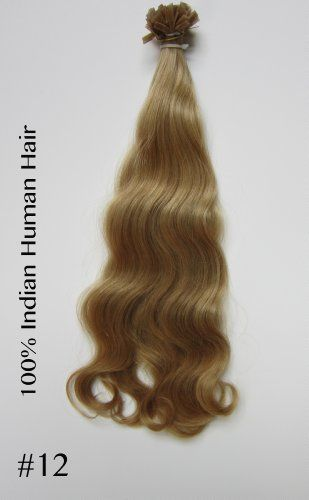 """25 Strands Remy Hair Extensions 20"""" 0.8gr Per Strand Flat Keratin Color #12(dark Ash Blond ) by Jenara Hair Extensions. $33.00. Color #12 (Dark Ash Blond). Hair Type; Remy Human Hair. Quantity 25 strend. Glue tip, hard Italian Keratin. Hair can be reused. Lasts up to 6 months.. Texture & Length: Wavy 20"""" 0.8gr per strand. Flat Italian Keratin Pre Tipped Remy Indian Hair Extensions Easy to maintain, natural and undetectable. Specifications: 25 Strands Per Bundle 20"""" l..."""