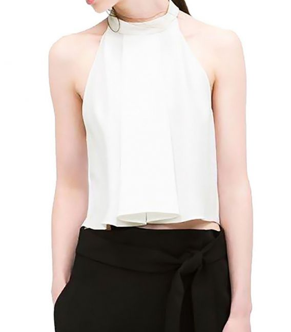Blouse with American neck and draped detail