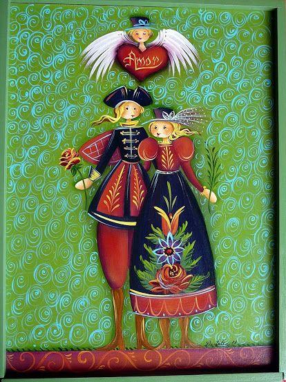 Noivas. A wonderful rendition of a beloved Jo Sonja design.