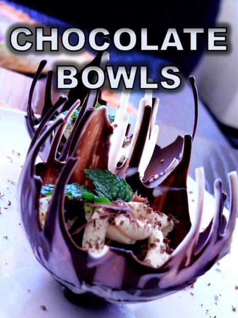 Chocolate Drip Bowls #recipe #dessert