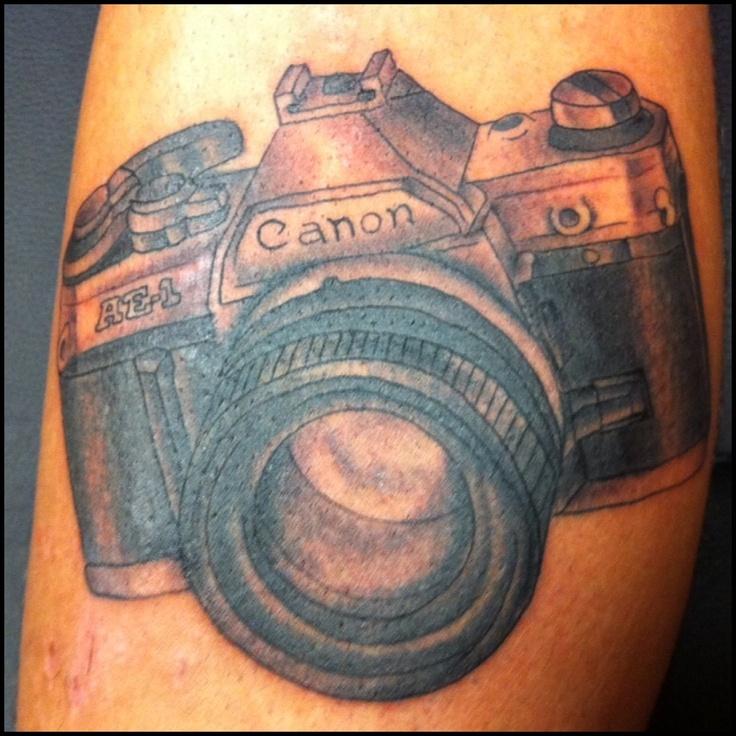 Vintage canon camera tattooed by jeremy stewart pinnacle for Tattoo corpus christi