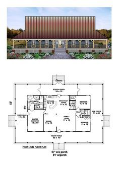 Country House Plan 45764 Country Houses Bedrooms And House