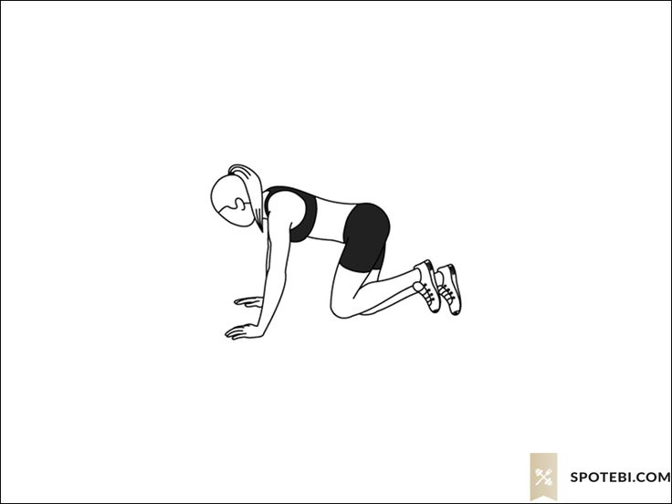 Donkey kicks exercise guide with instructions, demonstration, calories burned and muscles worked. Learn proper form, discover all health benefits and choose a workout. http://www.spotebi.com/exercise-guide/donkey-kicks/