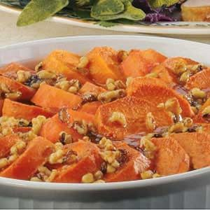 Orange Sweet Potatoes 2 cups warm water 2 tablespoons sugar or honey 1 packet active dry yeast; or 2 1/2 teaspoons instant yeast or active dry yeast 1/2 cup nonfat dry milk* 2 tablespoons soft butter, or vegetable oil (I used butter) 6 cups (about 765 g) unbleached all-purpose flour** 2 to 3 teaspoons salt***