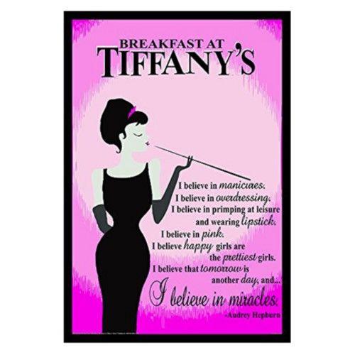 buyartforless Audrey Hepburn Breakfast at Tiffanys Quote