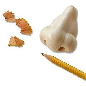 Nose Pencil Sharpener - Burun Kalemtıraş ve Silgi Seti