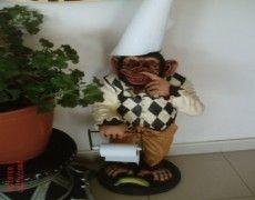 Toilet Paper Monkey Statue