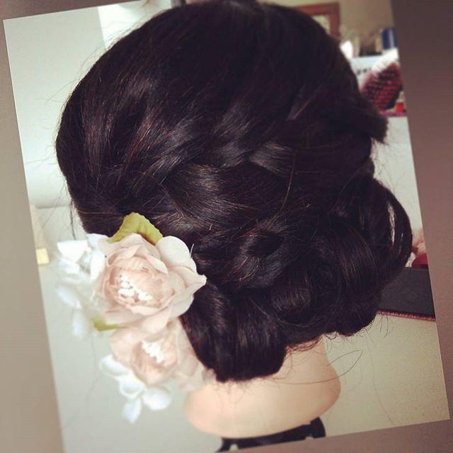 #peinado #peinadoparanovia #novia #novias #tocados #flores #trenzas #recogidos