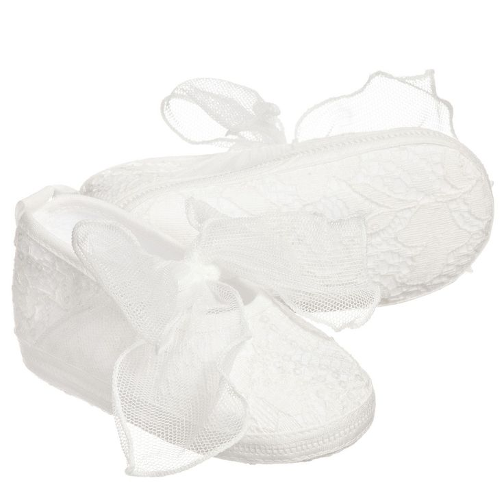 Aletta Baby Girls Ivory Lace Shoes  at Childrensalon.com