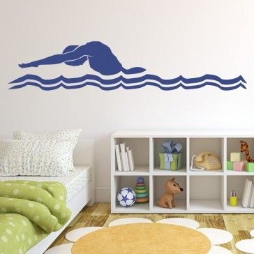 Swimming Butterfly Stroke Decal Wall Art - Swimming & Diving - Sports & Hobbies