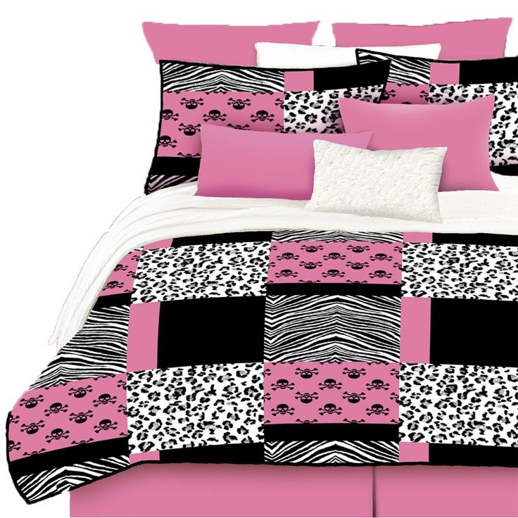 38 best dream bedroom images on pinterest for the home for Hot pink and black bathroom ideas