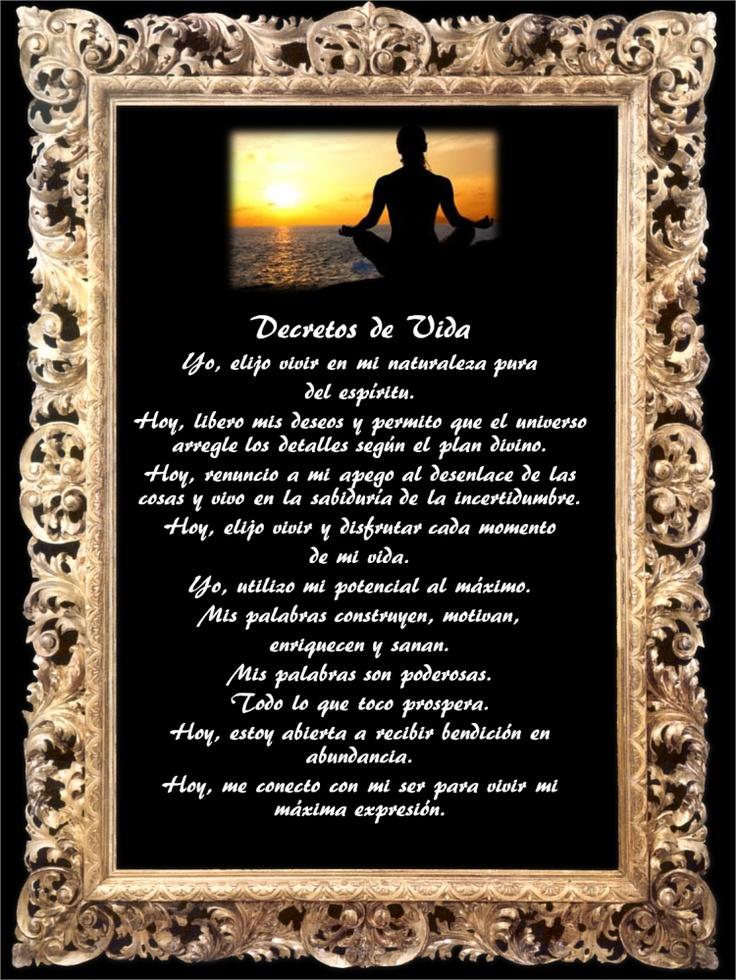 Poster para imprimir: Decretos de Vida 2013 - de Idaliz Escalante