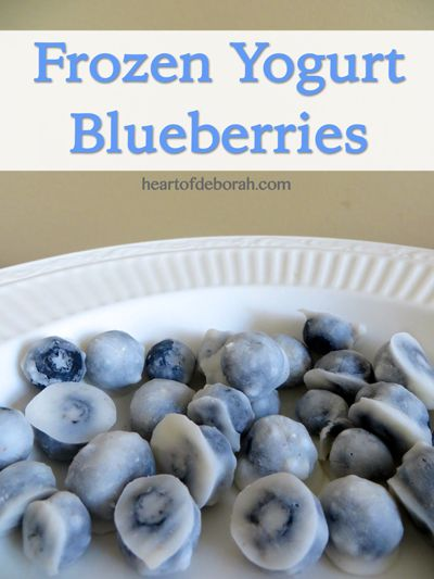 Frozen Yogurt Blueberry Recipe - The perfect snacks for kids and adults! Easy to do, sweet tasting, and healthy - Heart of Deborah