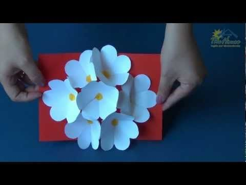 ▶ How to make a 3D pop-up flower card for a special someone - YouTube