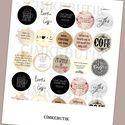Meska - Nyomtatható képek, kollázs pdf formátumban, ékszerkészítéshez, vicces kávés cimkebutik kézművestől