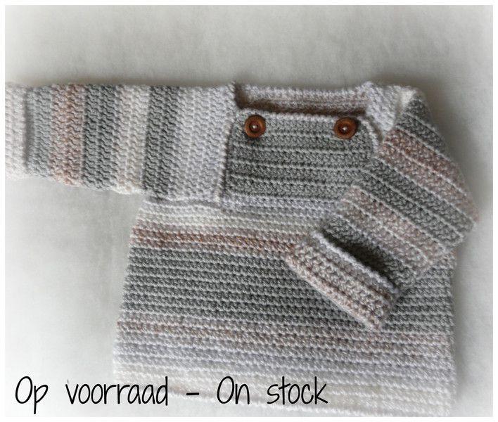 Vesten - Gehaakt Baby Trui / Jasje Anorak - Een uniek product van KnitsforKids op DaWanda