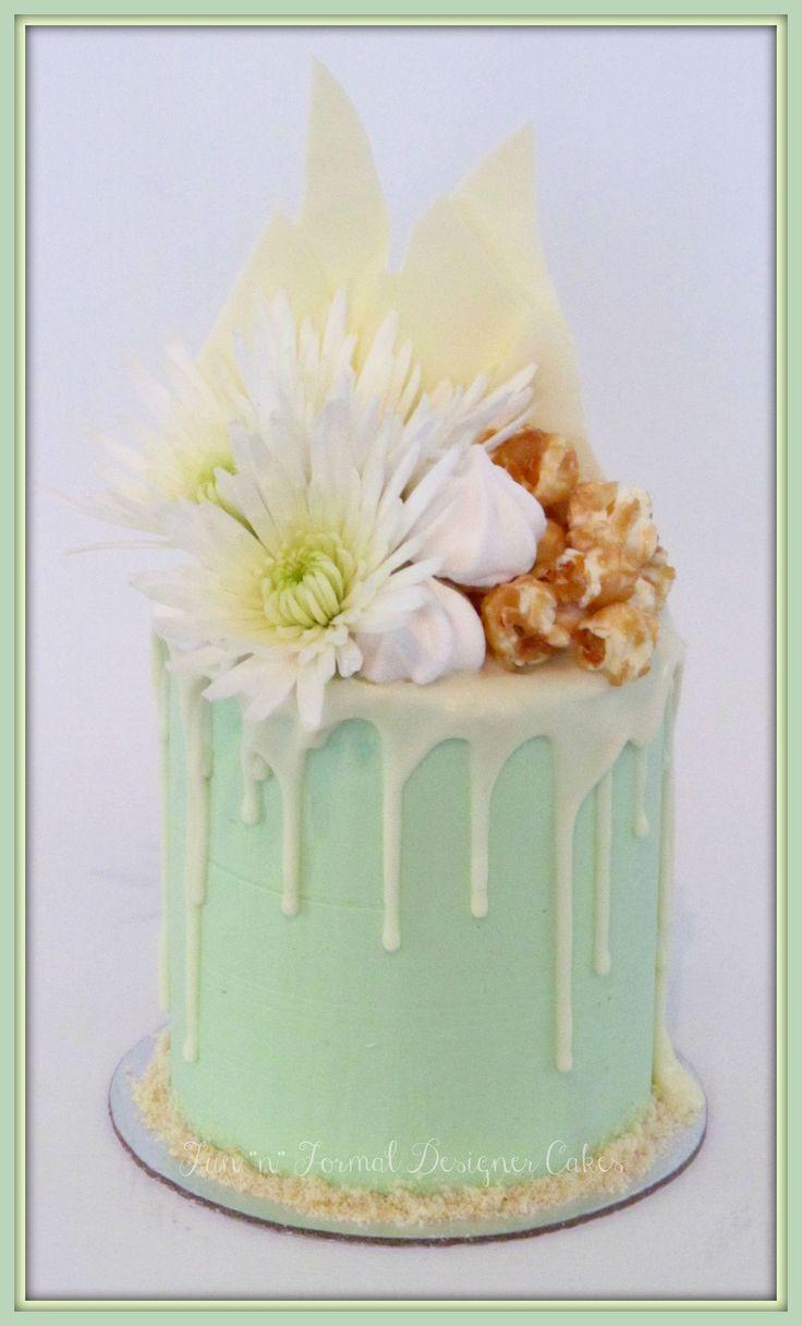 White chocolate drip cake.