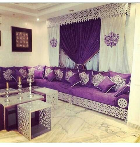 30 best images about salon marocain on pinterest window long sofa and mode - Decor oriental salon ...
