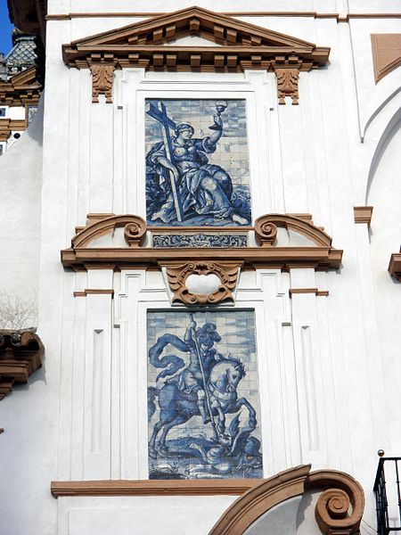 "Iglesia y hospital de la Santa Caridad - Sevilla.The Hospital de la Caridad in Seville, (Spain), is a baroque charity hospital building near Plaza de toros de la Real Maestranza de Caballería de Sevilla. The charity hospital was founded in 1674, and still cares for the aged and infirm. The hospital's chapel is open to the public and ""contains some of Seville's most sumptuous baroque sculpture."""