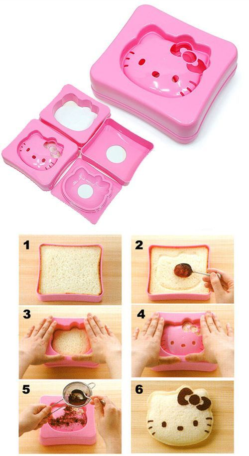 Not just only a lovely sandwich maker, also a wonderful gift for hello kitty lovers. Prepare your desired hello kitty shaped sandwiches in minutes with this sandwich maker and make surprised your hello kitty lovers friends. It's an effortless process. You will just need to add some cocoa powder to get hello kitty's feature after cutting the breads. This would be also a great way to enjoy a nice afternoon tea time with a lovely hello kitty shaped sandwich. Price $19.90
