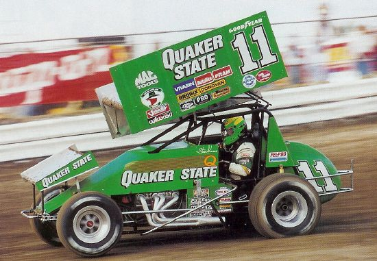 In 1995, Steve Kinser made a deal to return to sprint cars after a quick stint in NASCAR. (Scanned from 1995 Knoxville Nationals Program)