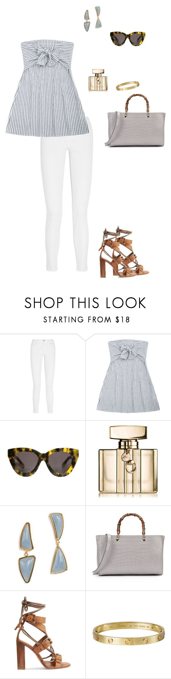 """Untitled #1985"" by nujixo ❤ liked on Polyvore featuring J Brand, Karen Walker, Gucci, Lizzie Fortunato, Etro and Cartier"