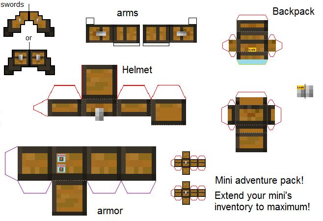 Papercraft Mini adventure pack | Minecraft | Pinterest ...