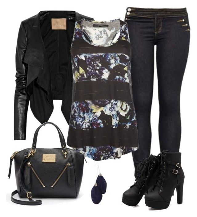 """""""Untitled #19"""" by sassiesavy on Polyvore featuring Max Azria, AllSaints, Juicy Couture and Warehouse"""