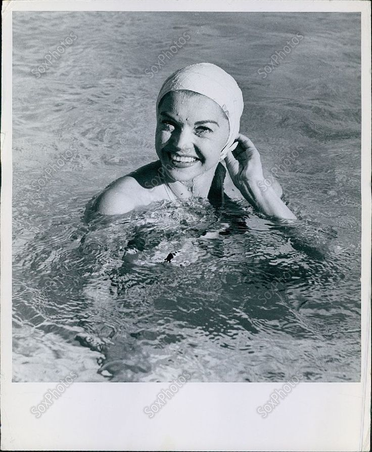Ca89 Professional Swimmer Esther Williams Rubber Swim Cap