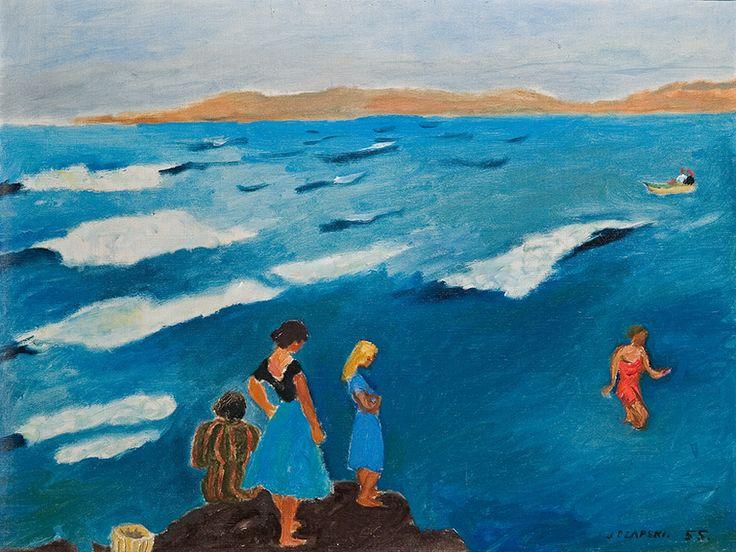 """Józef Czapski, """"Błękitne morze"""" (1955)"""