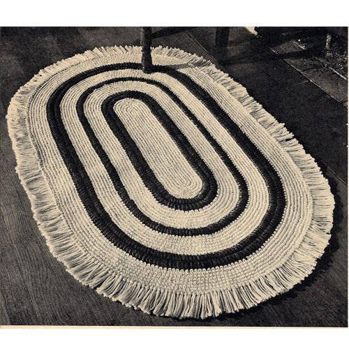 110 Best Crochet Rug Patterns, Vintage Images On Pinterest