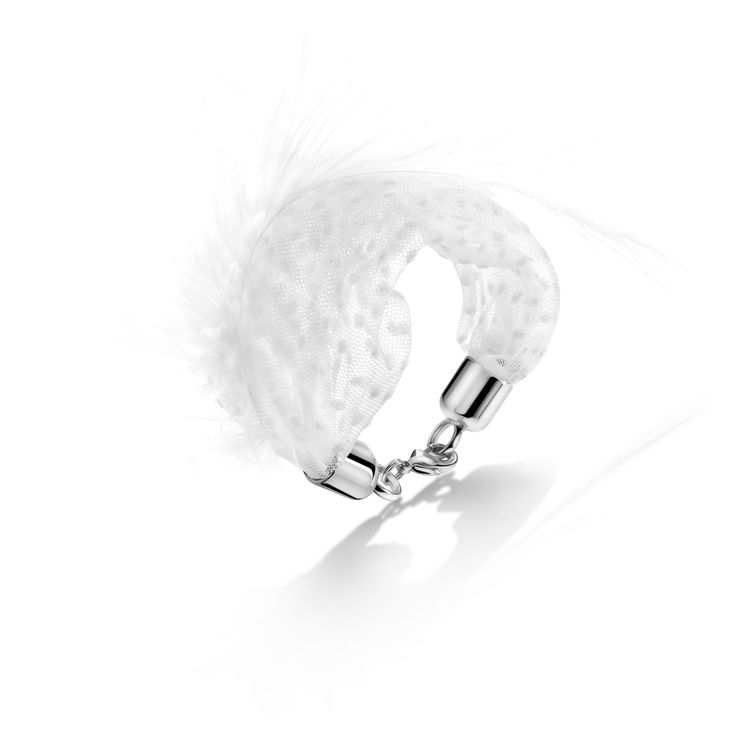 Romantic designer bracelet, Julie's feather by VVIITT, Antwerp, Belgium