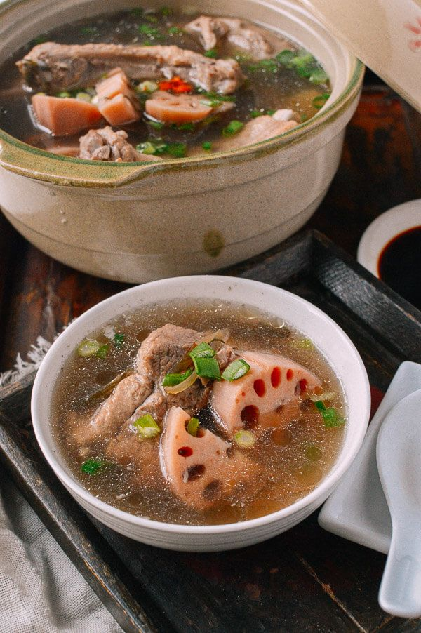 Lotus Root & Pork Soup Recipe, by thewoksoflife.com