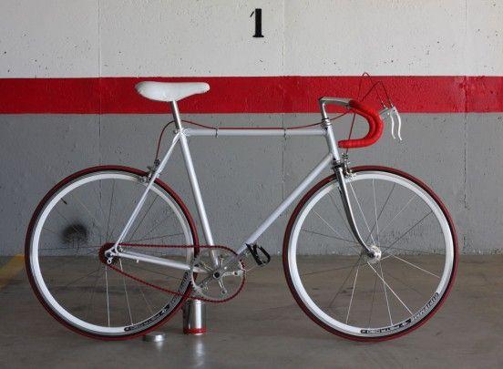 Bici singlespeed conversione, telaio in acciaio, ruote Pista Biascagne Cicli