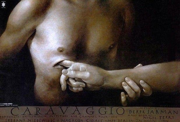 """Wiesław Wałkuski, Plakat do filmu """"Caravaggio"""", 1990."""