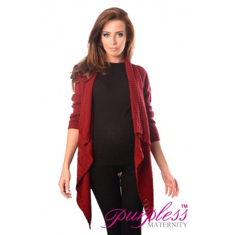 2in1 Maternity and Nursing Cascade Open Front Cardigan 9003 Burgundy  Every maternity wardrobe needs a cardigan. Our 2in1 maternity and nursing long sleeve cascade open front cardigan will add a level of comfort when you feel the need to wrap up.