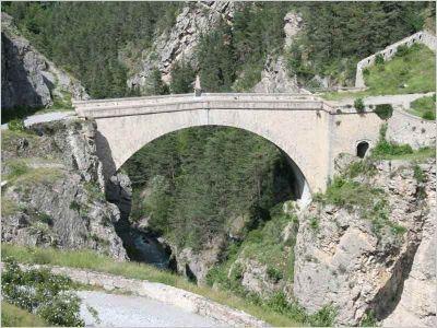 Pont d'Asfeld. Briançon. Hautes-Alpes-