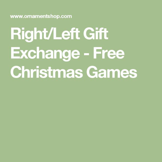 Christmas left right story