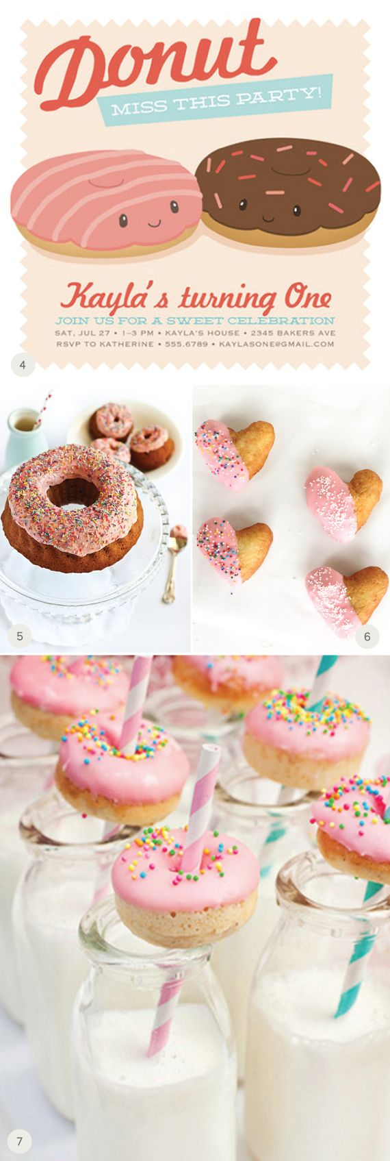 Party with Donuts: Donut Invitation, Donut Birthday Party Ideas, Kids Birthday, Donuts Stylishkidsparties, Cute Donuts, Cute Donut Ideas, Party Donut, Donut Invite, Birthday Ideas