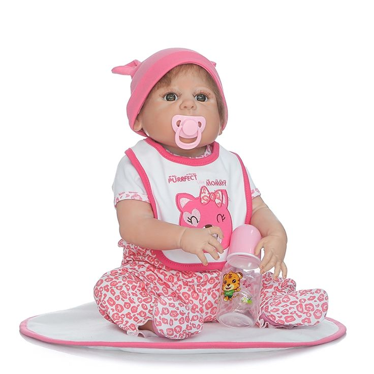 97.31$  Watch here - http://aliz92.worldwells.pw/go.php?t=32787500731 - Full Silicone Reborn Babies Doll Toys Lifelike 55cm Newborn Girl Baby Doll Kids Birthday Gift Present Bathe Toy Girls Brinquedos 97.31$