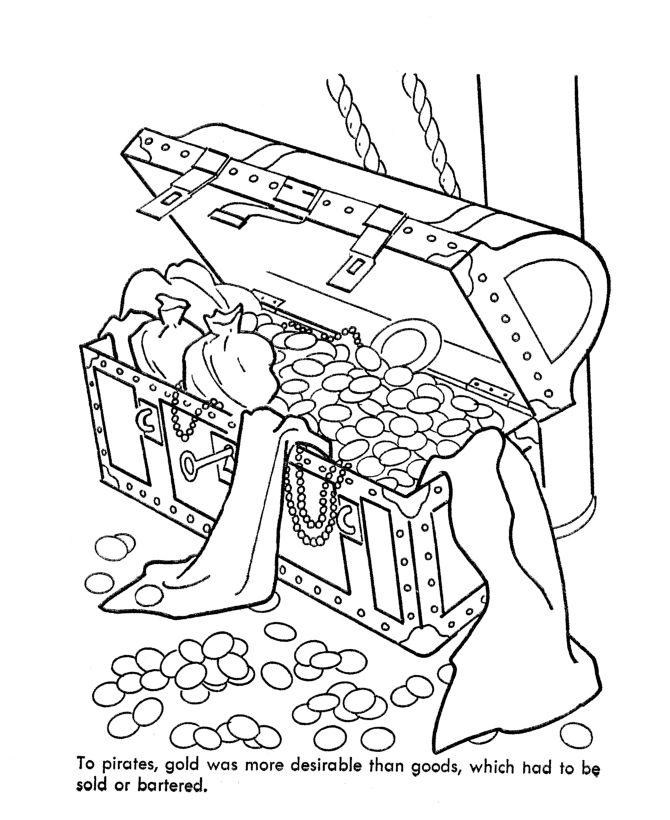 Free treasure coloring pages go back print this page for Treasure coloring pages