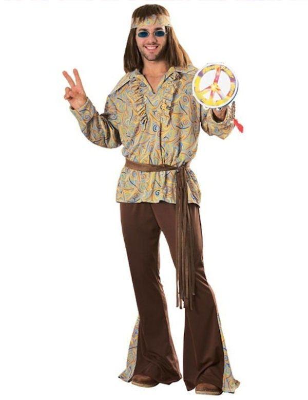 Jaren 60 Mod Marvin Hippie Man Kostuum ==> Feestkleding 365!