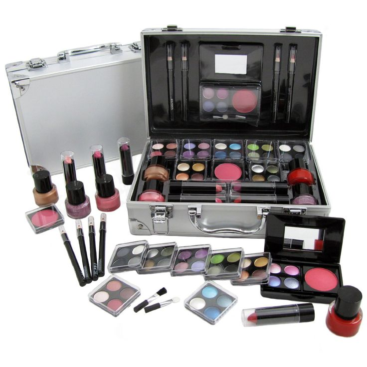 DealnDeals : Cosmetic Vanity Case 50 Piece Beauty Train Box Make Up Gift  Set Kit