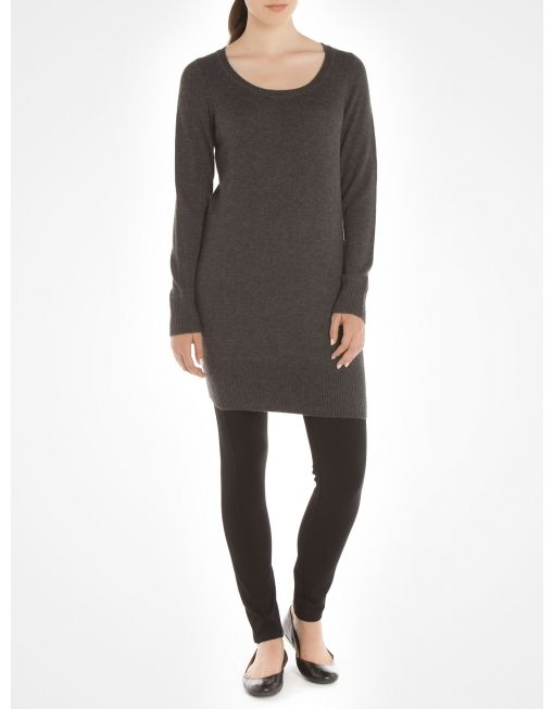 Long sleeve tunic - Grey Effortless dresses @Boutique JACOB #JACOBGIFTS