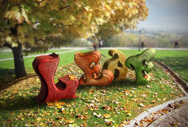Create an Autumn-Themed 3D Text Effect With Photoshop CS6 Extended - 20 Adobe Photoshop Tutorials Pedagogy for November