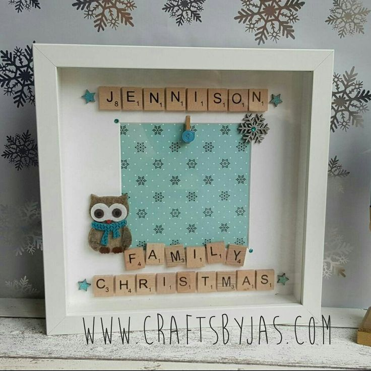 New personalised family scrabble frame! Only £19.00