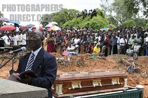 Jehovah Witness funeral in Africa stock photo