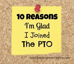 Loved reading this blog from a PTO mom. Inspiring!  10 Reasons I'm Glad I Joined the PTO!  by www.keepingmommysane.com