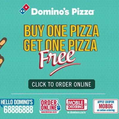 Dominos Pizza Buy 1 Get 1 Online at Low Prices in India with 15% Cashback