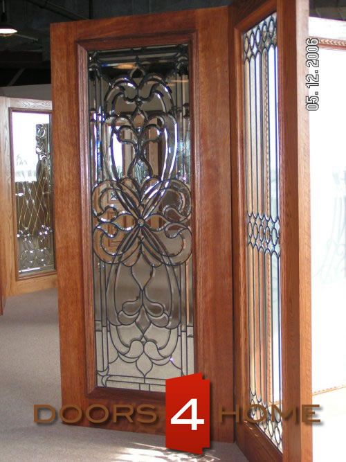 AAW Doors Inc. H Mahogany Single Door and Two Sidelites with a Beveled Cluster Design at & 20 best AAW doors inc entry doors images on Pinterest | Wood entry ...